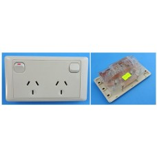 CMS 10amp Double Power Point  Beige